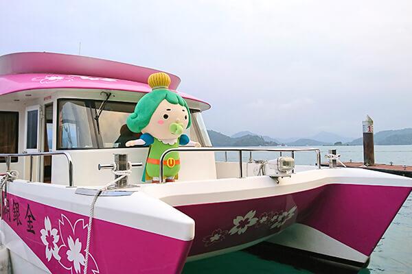 日月潭のボート
